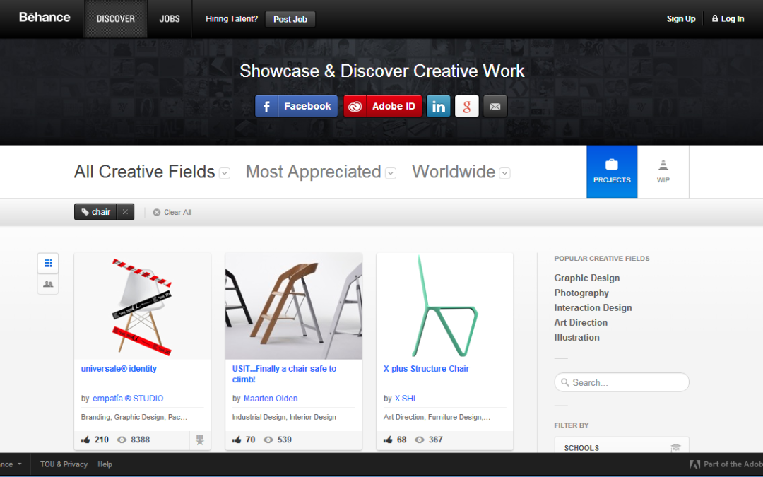 behance most appreciated projects worldwide