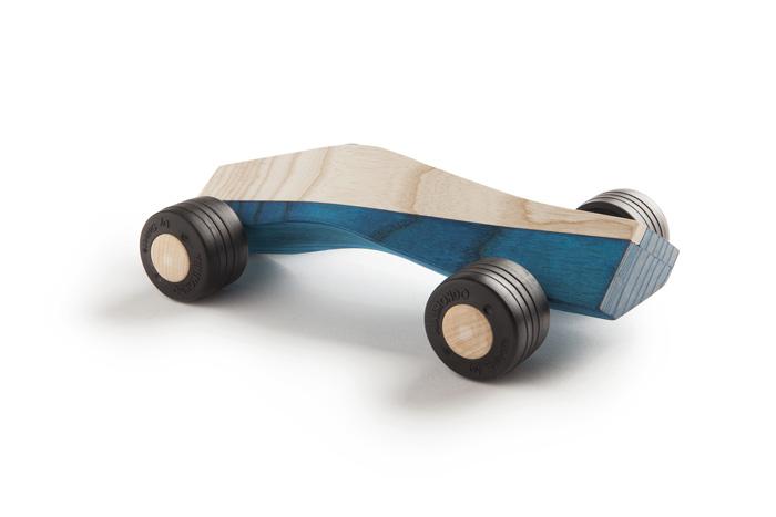 spliner 911 body blue wooden toy car maarten olden